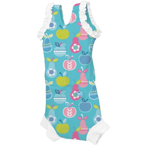 Splash About Girl'S Collections Happy Costume Neoprene Swim Nappy - Tutti Frutti, 0-4 Months front-830500