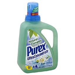 Purex Ultra Concentrate Natural Elements Laundry Detergent, Linen & Lilies 50oz.