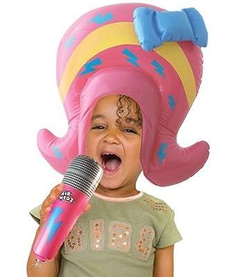 Spielzeug Aufblasbare Percke Popstar Mikro Mikrophon Sngerin Popstar Musik Dj bei aufblasbar.de