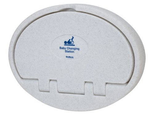 """Bradley Emergency Fixtures 961-000000 Grey Plastic Baby Changing Station, 34-1/16"""" Width X 25"""" Height X 3-15/16"""" Depth front-128563"""