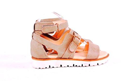 J231V Francescomilano sandalo donna vintage (37, Ghiaccio)