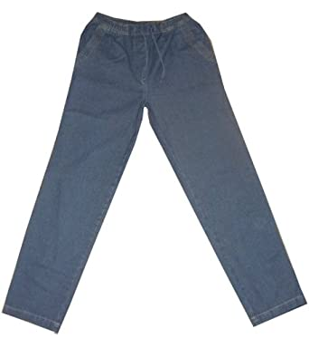 stooker laura damen jeans hose mit gummizug 40 42 blue stone. Black Bedroom Furniture Sets. Home Design Ideas