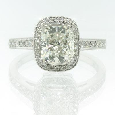 2.26ct Cushion Cut Diamond Engagement Anniversary