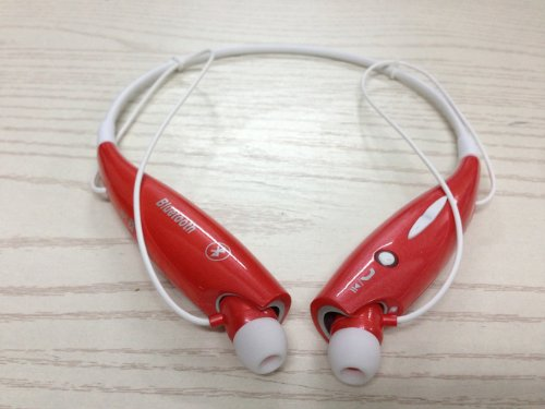Soundbeats Universal Hv-800 Wireless Music A2Dp Stereo Bluetooth Headset Universal Vibration Neckband Style Headset Earphone Headphone For Cellphones Such As Iphone, Nokia, Htc, Samsung, Lg, Moto, Pc, Ipad, Psp And So On & Enabled Bluetooth (Red, Hbs-800)