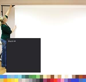BLACK - NOIR - Creativity Background Papers - Exposé introductif de studio photographique, Papier de studio de photographie, 2.72m x 11m, contexte du poids lourd 180gsm.