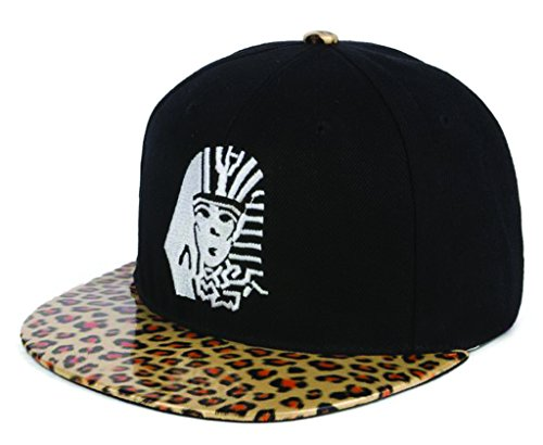 Long Last King Leopard Brim Hat Skateboard Baseball Hip-Hop Cap