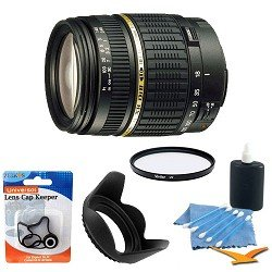 Tamron AF 18-200mm f/3.5-6.3 XR Di II LD Aspherical (IF) Macro Zoom Lens for Canon Digital SLR Cameras with 62mm Multicoated UV Protective Filter, 62mm Hard Lens Hood, Lens Cap Keeper, and 5 pc. Lens Cleaning Kit