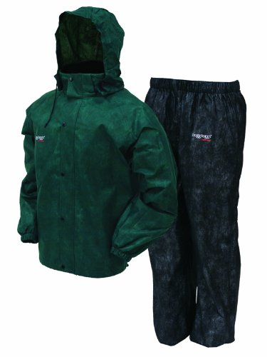 Frogg Toggs Men's All Sports Rain and Wind Suit, Green/Black, Large (Gore Tex Rain Suit compare prices)