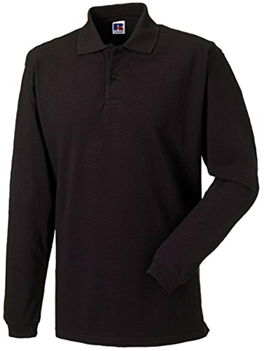 russell-collection-klassisches-pique-langarm-poloshirt-r-569l-0-mblack