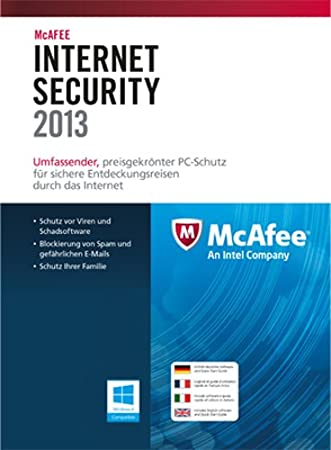 McAfee Internet Security 2013 - 1 User [Download]
