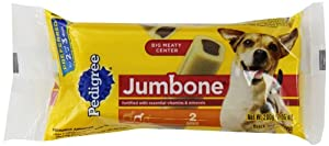 Pedigree Jumbone Snack Food for Small/Medium Dogs, 2-Count Bones (Pack of 12)