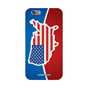 HomeSoGood American Map On Flag Multicolor 3D Mobile Case For iPhone 6S (Back Cover)