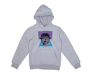 Quiksilver Kinder Sweatshirt Hood Rib Sweat Youth, 28 The Quiver Light Grey Heat, 128
