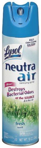 Lysol Neutra Air Sanitizing Spray, Air Freshener, Revitalizing Fresh Breeze, 16 oz