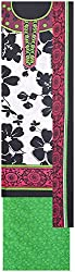 Payal Collection's Women's Cotton Unstitched Salwar (White and Black)