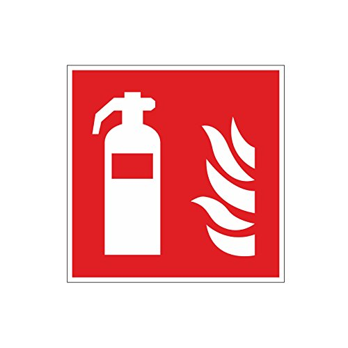 Brandschutzaufkleber-F001-Feuerlscher-10x10cm-Art-hin157-DIN-EN-ISO-7010-Hinweis-Achtung-Warnhinweis-Brandschutz-Feuerlscher