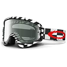 Oakley O-Frame MX Sand Checked Out Goggles with Clear Lens (One Size)