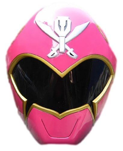 Wearable Pink Mighty Morphin Power Rangers Sentai Gokaiger Helmet Scale 1:1