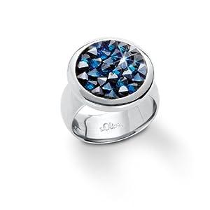s.Oliver Damen-Ring Swarovski Kristall 52 (16.6) 432429