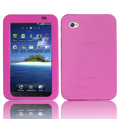 PINK SILICON COVER CASE FOR SAMSUNG