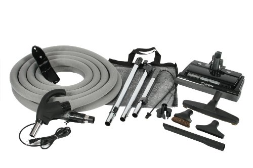 Cen-Tec Systems 99614 CT14DXQD Quiet Drive Central Vacuum Electric Brush Kit with 35-Feet Universal Connect 4-Wire Hose