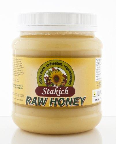 Stakich RAW HONEY 5-LB, Pure, Unprocessed, Unheated, KOSHER