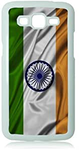 India Silk Flag White Back Cover Case for Samsung Galaxy Grand 2 G7106