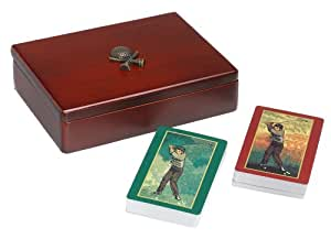 Golf Gifts & Gallery Golf Playing Cards in Wood Case