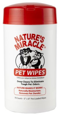 Natures Miracle 5147 5 x 8 in. Pet Bath Wipes, 70 Count