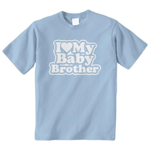 Threadrock Big Girls' I Love My Baby Brother Youth T-Shirt Xl Light Blue front-1067388