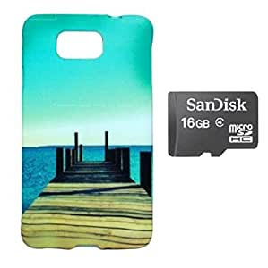 ZOOP Premium High Quality Rubberized Protective Printed Case Cover for Samsung Galaxy Alpha -Nature's Scenic Beauty (Air And Sea) With 16GB Sd Card