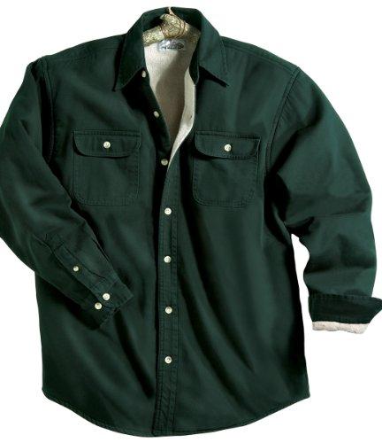 Tri-Mountain Stonewashed Men's Denim Shirt Jacket (Size - XXX-Large) - (Color - DARK FOREST / KHAKI) at Sears.com