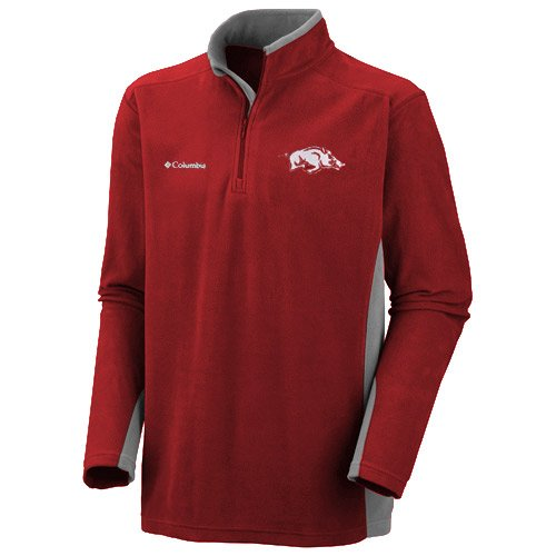 NCAA Columbia Arkansas Razorbacks Klamath Range II Half Zip Fleece Jacket - Cardinal (Large) at Amazon.com