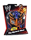 Mattel WWE Wrestling Rey Mysterio Mask Black, Purple Cross & Orange Trim