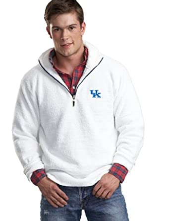 NCAA University of Kentucky Kashwere U Unisex Half Zip Pullover (White Navy, X-Large... by Kashwere U