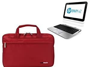 Navitech Ruby Red Ultrabook/ Laptop/ Notebook Case Cover Bag For The Hp Envy X2 Windows 8 Tablet