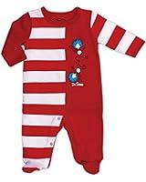 Bumkins Dr. Seuss Footed Sleeper, Red Stripe, 3 Months