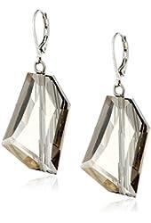 CZ by Kenneth Jay Lane Trend Multi-Cubic Zirconia Organic Drop Earrings, 25 CTTW