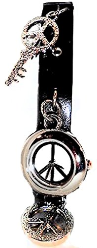 xhilarationr-watch-peace-sign-charm-style-with-black-leather-strap-band