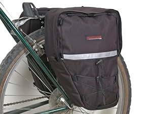 Bushwhacker Moab Black - Bicycle Rear / Front Pannier Cycling Rack Pack Bike Bag - w/ Reflective Trim - Sold as Pair