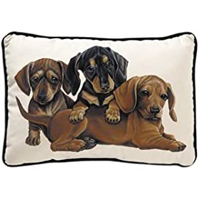 Dachshund Puppies Decorative Dog Pillow