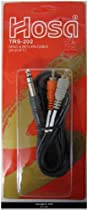 Hosa TRS-202 2 Meter Insert Cable, 1/4 in TRS to Dual RCA