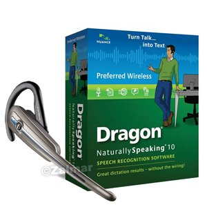 Nuance Dragon Naturallyspeaking Preferred Wireless Version 10 Speech Recognition Software With Plantronics Calisto Bluetooth Headset