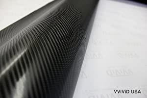 Black True R Carbon Fiber Vinyl Wrap Roll with Air Release Technology (10ft x 5ft) (Tamaño: 10ft x 5ft)