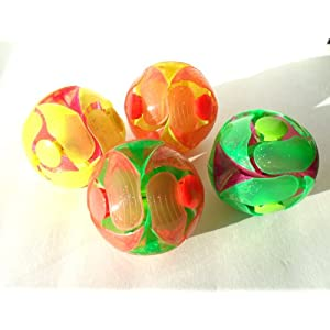 The All New Blinking Magic Expanding Balls Set of 4