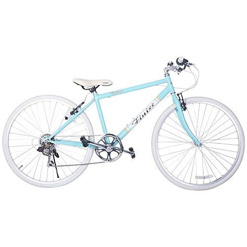 SHINEWOOD(シャインウッド)自転車 95%完成品 26インチ クロスバイク 軽量 シマノ7段変速 自転車 シティサイクル PL保険加入済 男性 女性 通勤 通学 5色 (ライトグリーン)