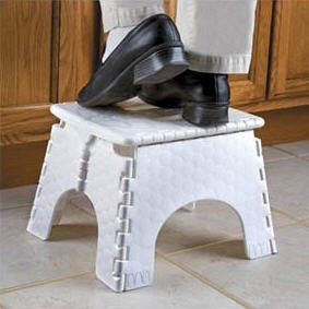 Step n' Store Folding Step Stool (White)