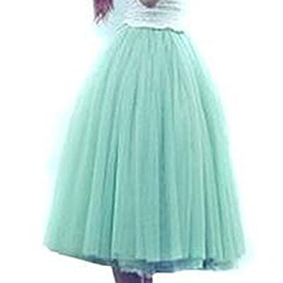 Hee Grand Women Five-Layer Voile Puff Princess Skirt