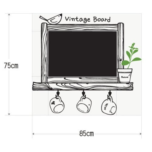 toogoo-r-pegatina-etiqueta-adhesivo-amovible-pvc-decor-decorativo-marco-pizarra-negra