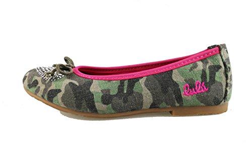 scarpe bambina LULU' ballerine tela (EU 34, Verde)